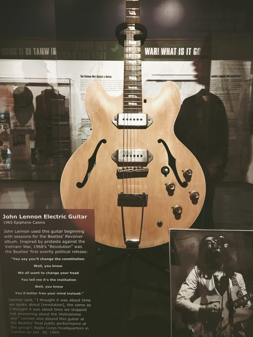John Lennon's guitar first used in the Beatles 'Revolver' album.