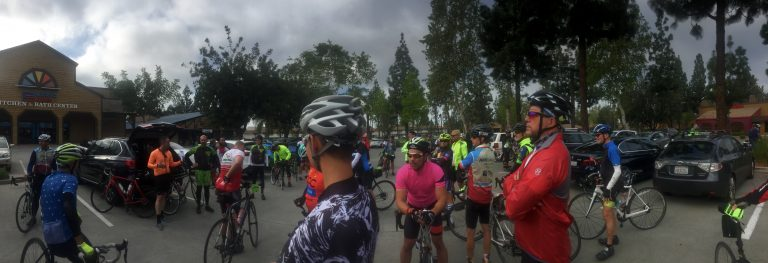 Team FUBAR gathers before an AIDS/LifeCycle training ride