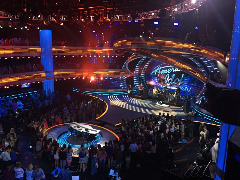 On set of American Idol Season XIV