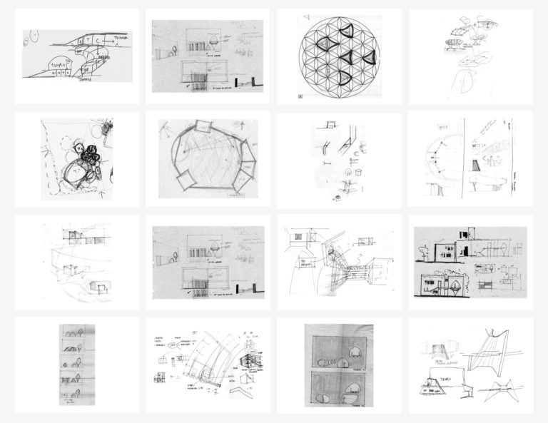 Early concept sketches of Soga Recordings.