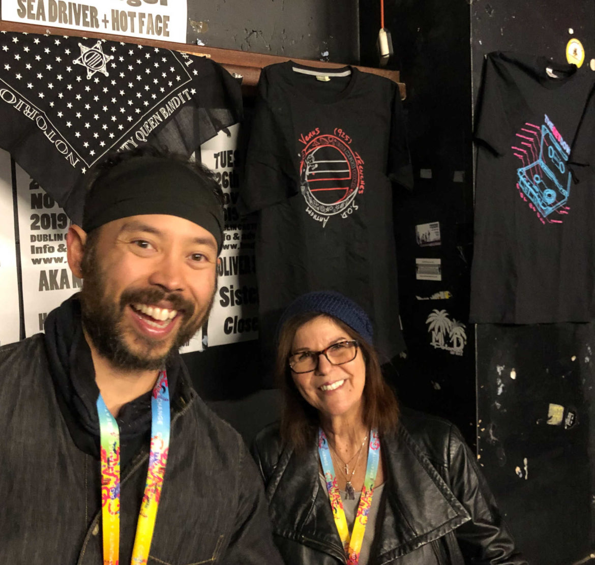 Angelo & Deb at the merch table