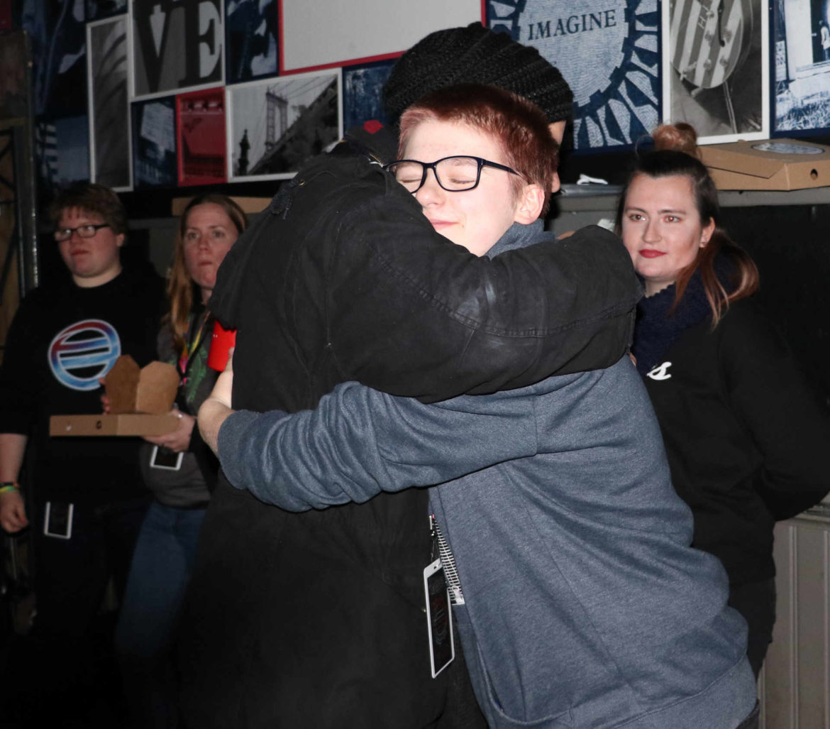 Hugs abound at any EOE Experience