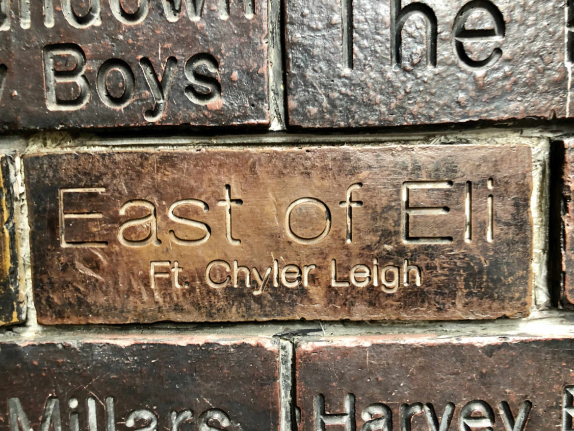 The EOE brick in the Cavern Pub wall