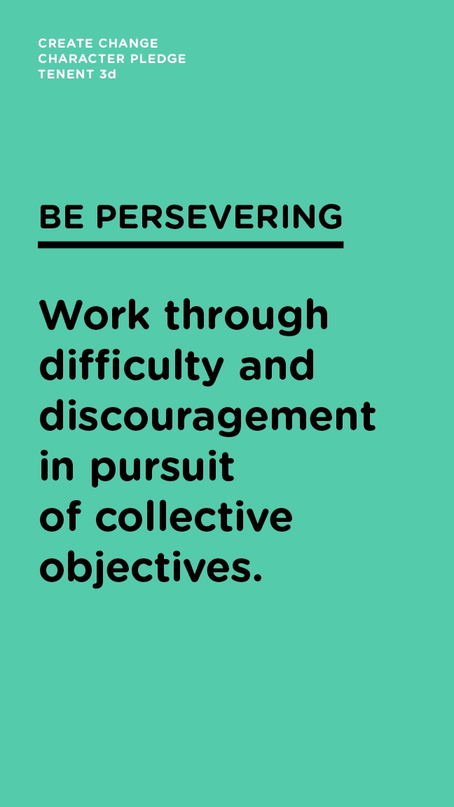 Be Persevering