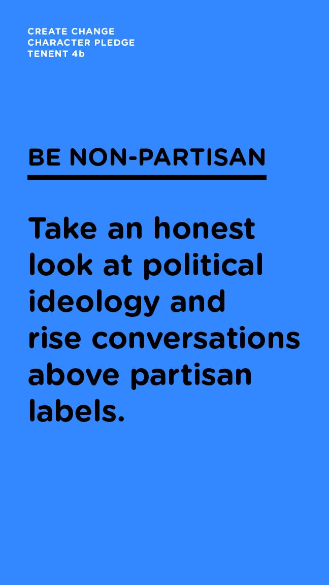 Be Non-Partisan