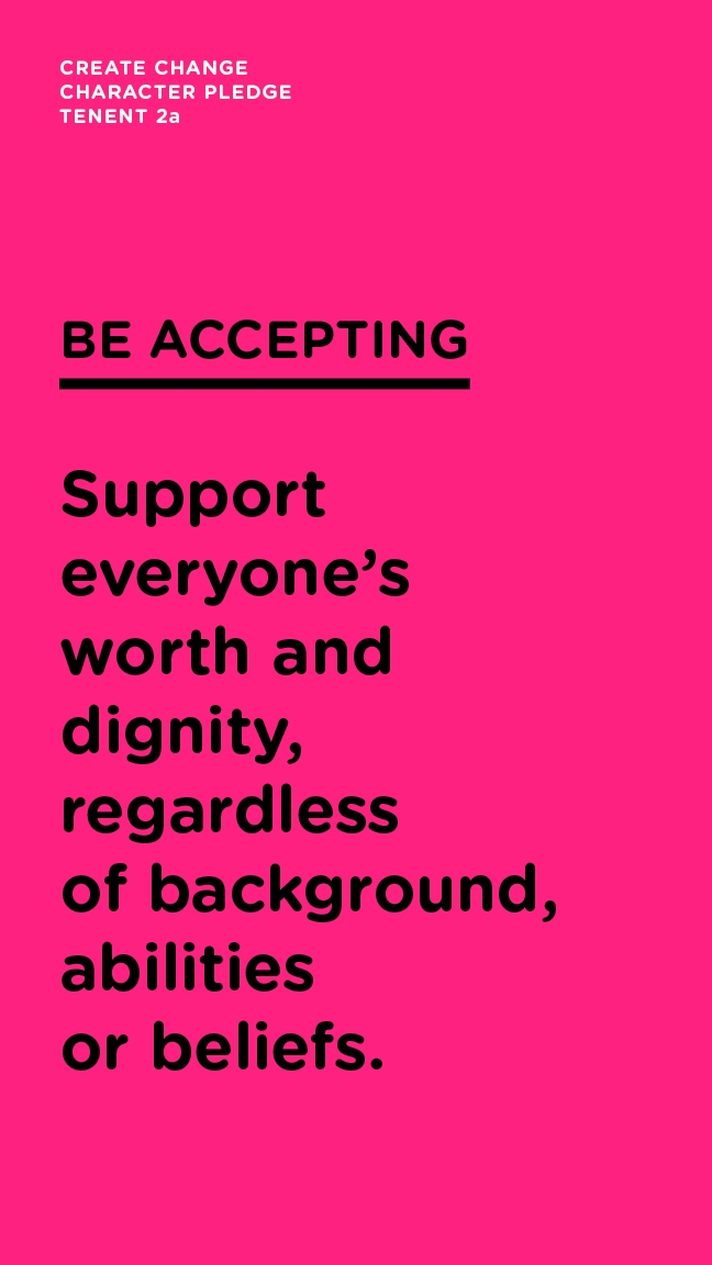 Be Accepting