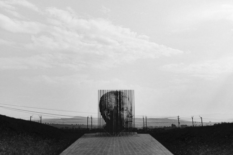 Nelson Mandela monument by Marco Cianfanelli. Howick, South Africa.