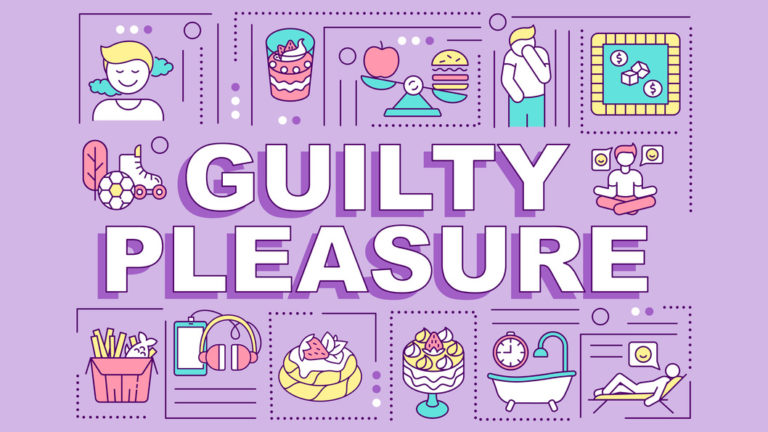 Guilty pleasure word concepts banner
