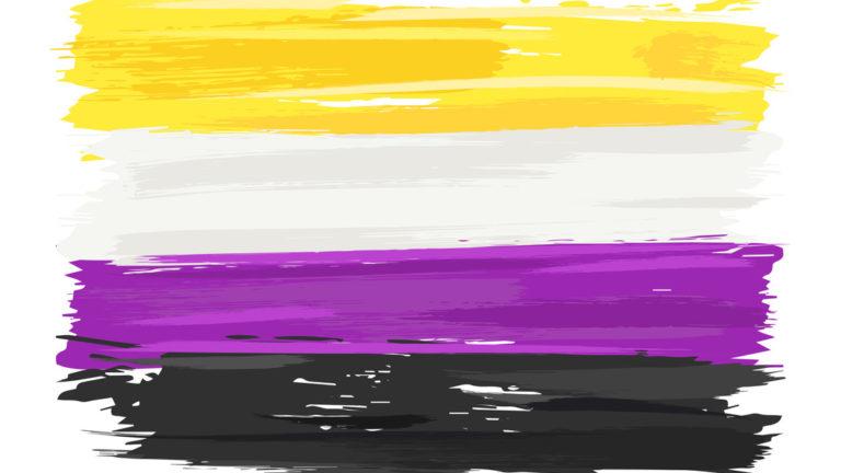 Non binary Pride colors - Yellow, White, Purple & Black
