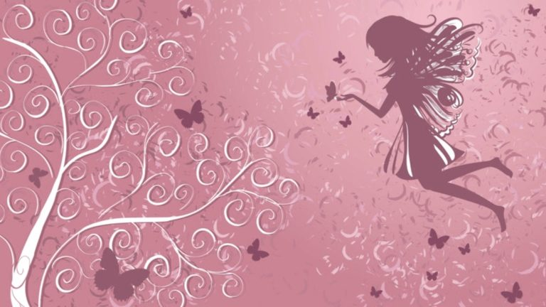 Fairy surrounded by butterflies